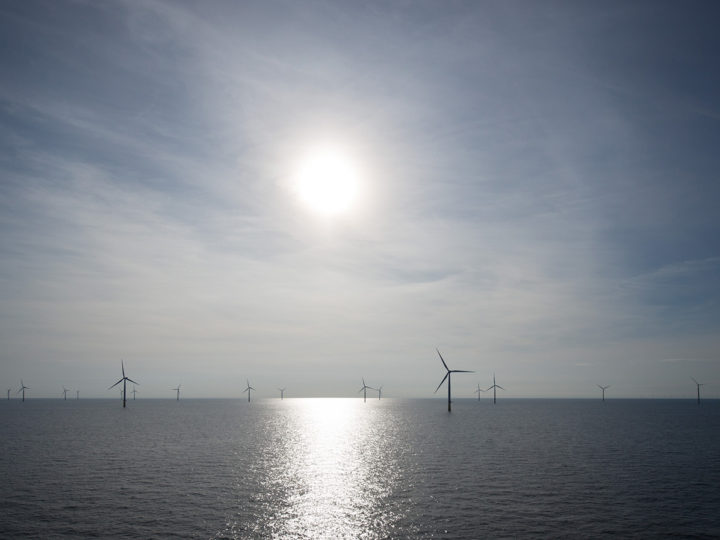 epa05551673 Wind turbines stand in the Baltic Sea at the offshore wind farm 'DanTysk' of the Swedish energy company Vattenfall and the municipal works of Munich (SWM) around 43 sea miles (70 kilometres) West of the island of Sylt, Germany, 21 September 2016. Around 50 technicians and engineers, who are responsible for the maintenance of the nearby wind farms 'Dan Tysk' and 'Sandbank', have lived on the residential platform in the wind farm for two months.  EPA/CHRISTIAN CHARISIUS