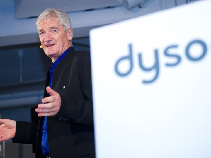 epa06228365 (FILE) - British entrepreneur and inventor James Dyson unveils his new invention, the Airblade Tap hand drier, in Hamburg,Germany, 28February 2013 (reissued 26 September 2017). British inventor James Dyson of household goods company Dyson announced on 26 September 2017 it was planning to invest two billion British pound (approx 2.7bn USD) in the development of an electric car. Thge company is best known for vacuum cleaners and fans.  EPA-EFE/AXELHEIMKEN  GERMANY OUT