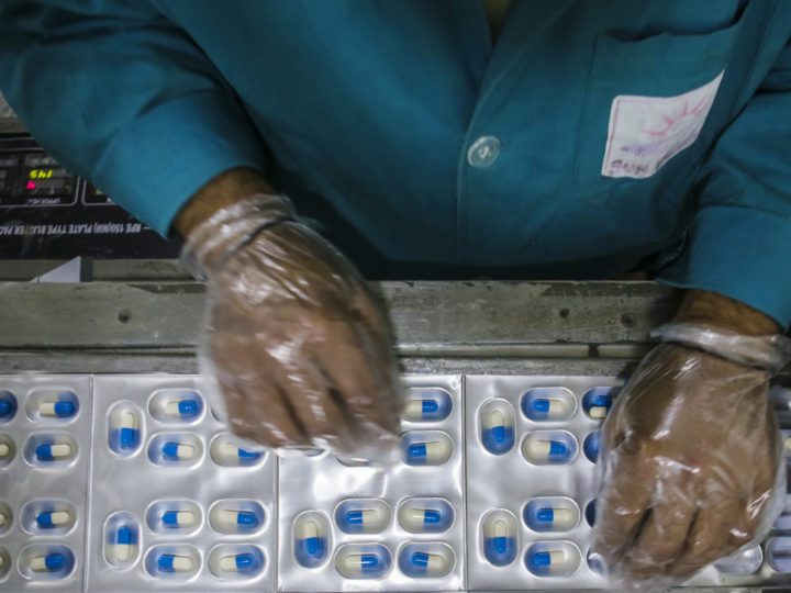 epa04609965 An Afghan worker packages pills in a drugs factory Sun Pharma, in an industrial park in Kabul, Afghanistan, 08 February 2015. The company product range includes 17 types of medicine and it has 25 members of staff. The pharmaceutical market in Afghanistan is estimated to be worth over 200 million USD.  EPA/JAWAD JALALI