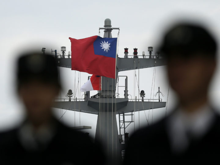 epa05255097 A photo made available on 12 April 2016 shows Taiwanese navy sailors standing guard on a naval warship during a military Naval drill in Kaohsiung, Taiwan, 27 January 2016. On 12 April 2016, Taiwan's Defense Ministry denied involvement in the espionage case in which a US naval official that has been charged with allegedly spying for China or Taiwan, or possibly both. Defense Ministry Spokesman Lo Shao-ho said the US has not asked Taipei to help investigate the case of Edward Lin, and Taiwan has never used US military personnel to spy for Taipei. Lt. Commander Lin, born in Taiwan but now a US citizen, was a flight officer assigned to a naval reconnaissance unit. He was arrested 8 months ago and has been recently charged with espionage.  EPA/RITCHIE B. TONGO
