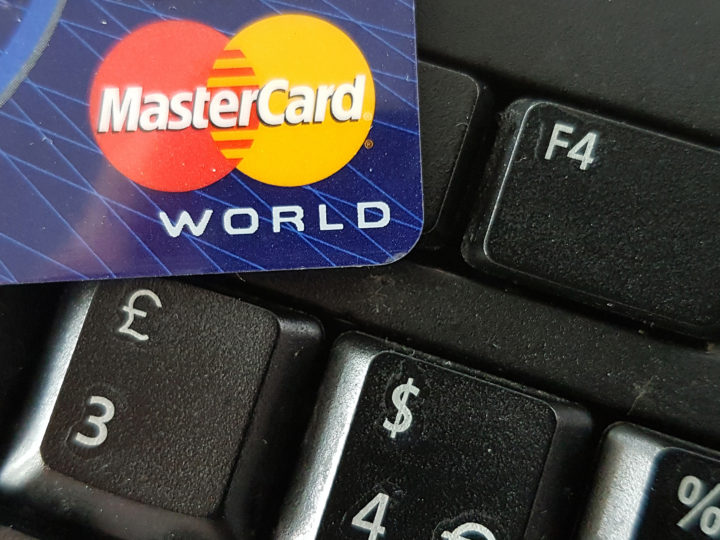 epa07308763 (FILE) - A close-up image showing a Mastercard credit card on a computer keyboard in Frankfurt, Germany, 10 September 2016 (reissued 22 January 2019). Media reports state Mastercard has been fined 570 million Euros by EU competition authorities over excessive fees.  EPA-EFE/MAURITZ ANTIN