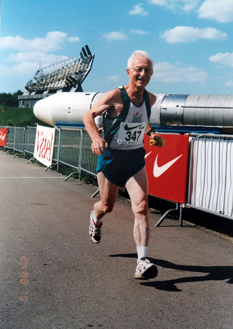 Joseph Heymans at his most memorable run, the Nike Space Run