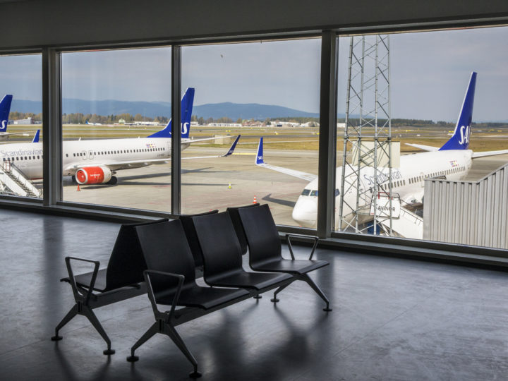 epa07529651 SAS airplanes on a tarmac at the Oslo Gardermoen airport during SAS Scandinavian airlines pilots strike in Oslo, Norway, 26 April 2019. Hundreds of SAS Scandinavian airlines pilots from Norway, Sweden and Denmark went on strike after talks on wage failed. According to reports, some 170,000 travellers can be affected with cancelled or delayed flights during the weekend.  EPA-EFE/OLE BERG RUSTEN NORWAY OUT