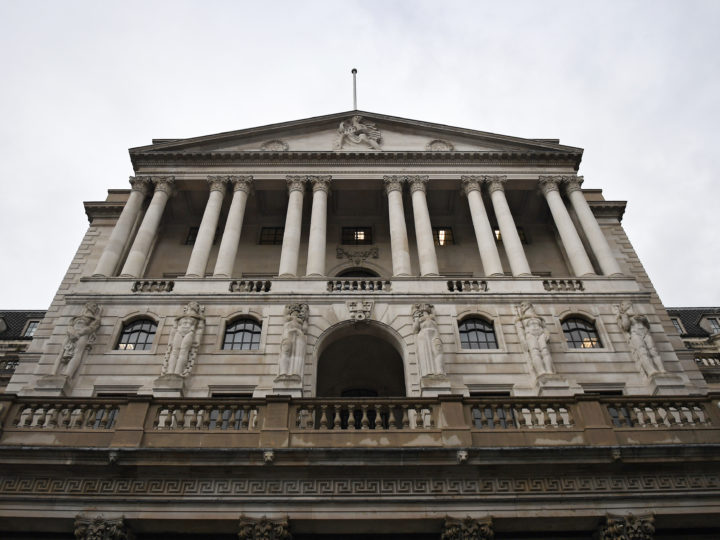 epa07524447 (FILE) - The Bank of England in London, Britain, 01 November 2018, reissued 24 April 2019. The Chancellor of the Exchequer Philip Hammond will announce on 24 April 2019 the start of the process to appoint the next Governor of the Bank of England. The current Governor, Mark Carney, took up the role on 01 July 2013 and will step down on 31 January 2020.  EPA-EFE/ANDY RAIN