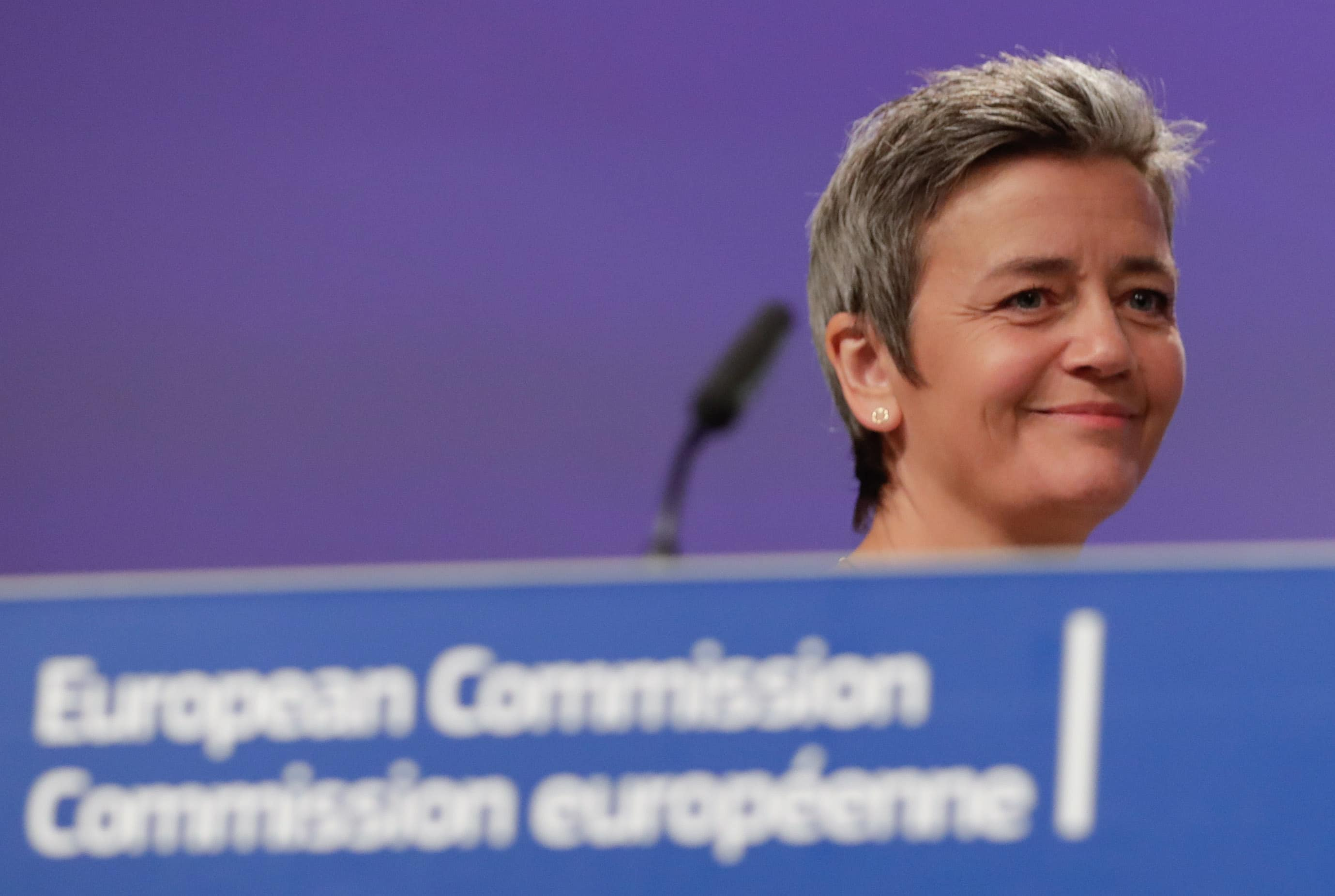 'I am still a candidate' for EU top job, says Vestager