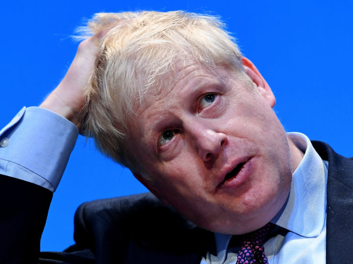 epa07670012 A photograph released on 24 June 2019 of Former British Foreign Secretary Boris Johnson as he attends the Conservative Party leadership hustings in Birmingham, Britain, 22 June 2019. British Foreign Secretary Jeremy Hunt is calling for Johnson to take part in a TV debates during the campaign to become the country's next Prime Minister.  EPA-EFE/ANDY RAIN