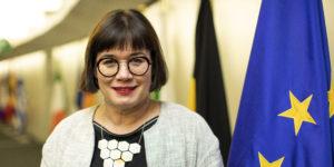 portraits de Sabine Weyand, membre du cabinet de Michel Barnier