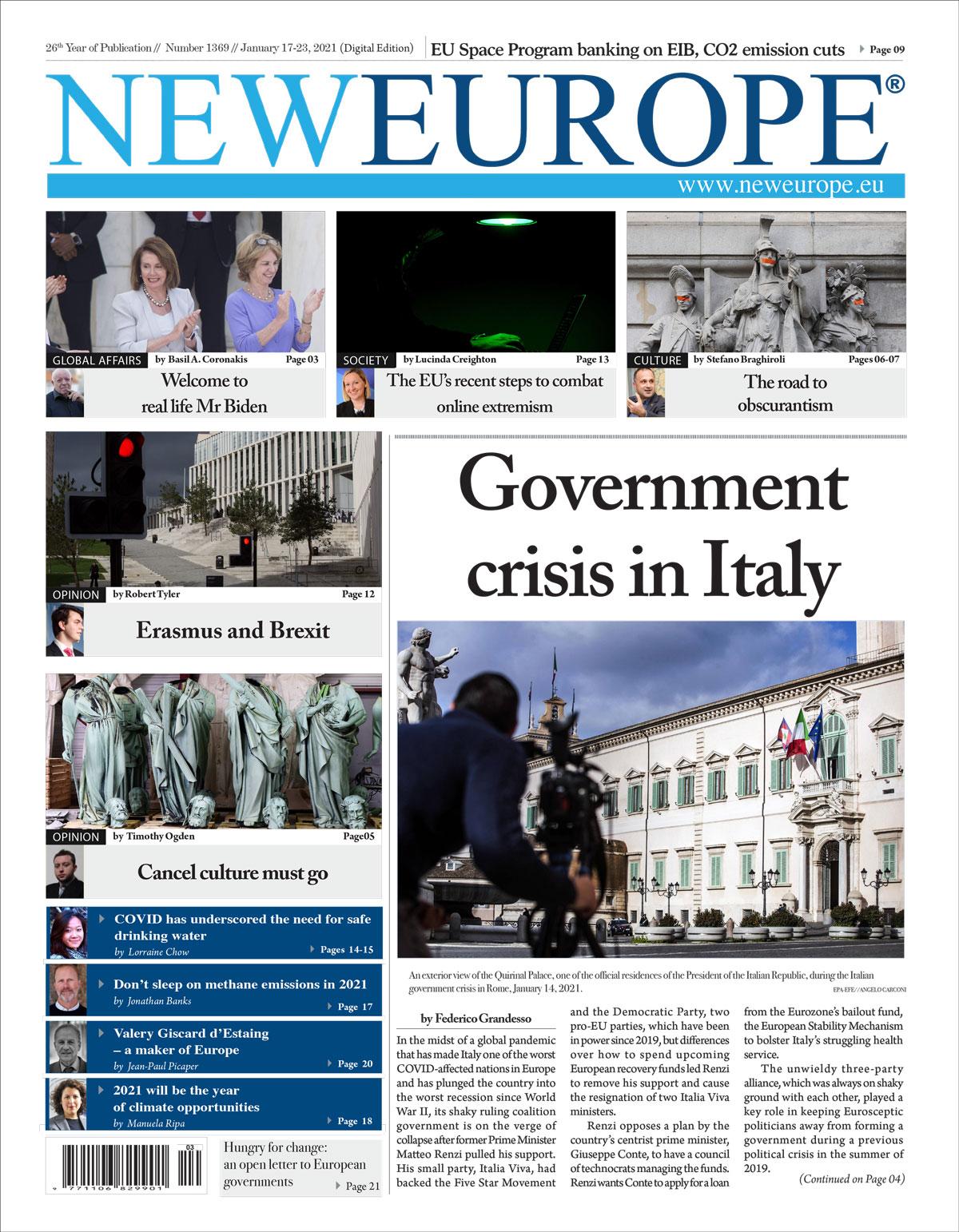 Problema 1369: crise governamental na Itália (edição digital) 2